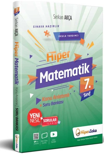 Hiper Zeka Yayınları 7.Sınıf Matematik Konu Anlatımlı Soru Bankası