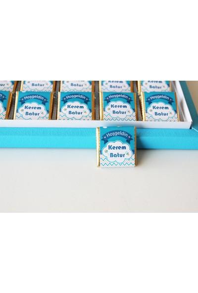 Hayal Sepetim İsme Özel Erkek Bebek Çikolatası 48 Madlen