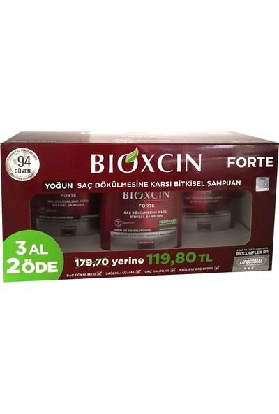 Bioxcin Forte Şampuan 3 Adet + Serum