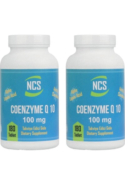 Ncs Coenzyme Q-10 100 Mg 180 Tablet x 2 Adet
