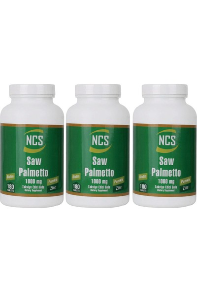 Ncs Saw Palmetto 1000 Mg 180 Tablet x 3 Adet