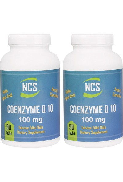 Ncs Coenzyme Q-10 100 Mg 90 Tablet x 2 Adet