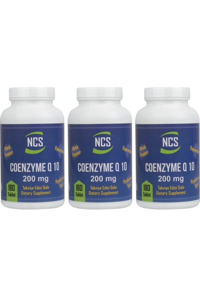 Ncs Coenzyme Q-10 200 Mg 180 Tablet x 3 Adet