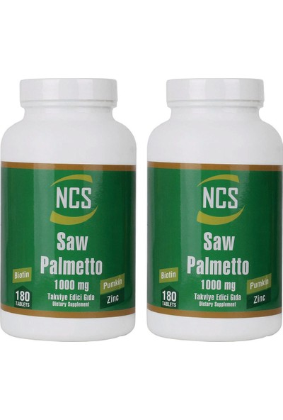Ncs Saw Palmetto 1000 Mg 180 Tablet x 2 Adet
