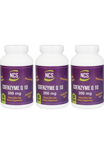 Ncs Coenzyme Q-10 200 Mg 90 Tablet x 3 Adet