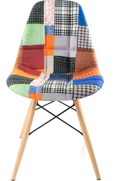 Dorcia Home Patchwork Eames Sandalye Cafe Balkon Mutfak Sandalyesi