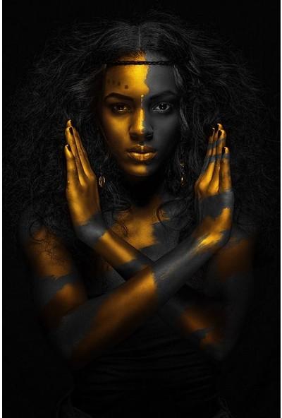Deko Kanvas Afrikalı Kadın 3'lü Kanvas Tablo 25 x 35 cm