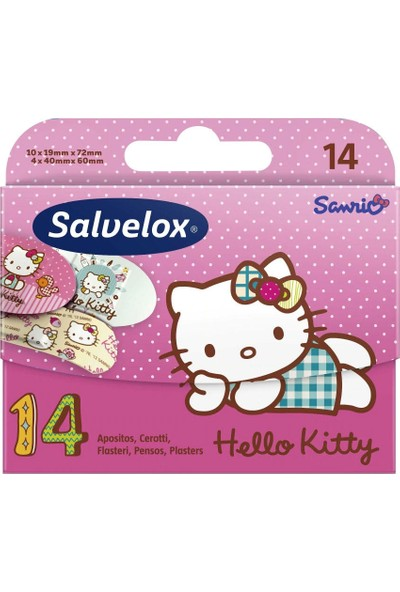 Salvelox Hello Kitty Figürlü Yara Bandı 14 Adet