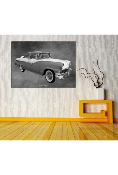 Zelyum 1956 Ford Fairlane Victoria Yağlı Boya Görünümlü Kanvas Tablo