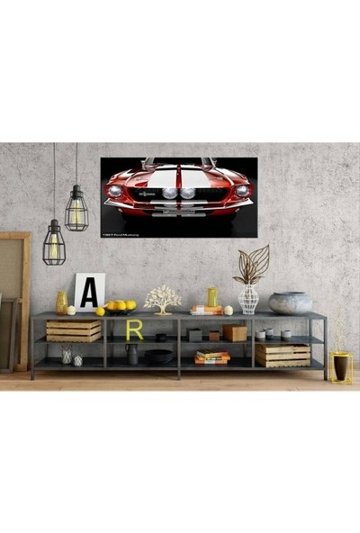 Zelyum 1967 Ford Mustang Panoramik Kanvas Tablo