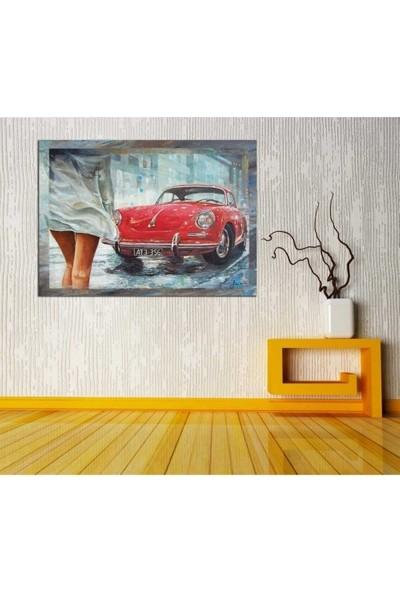 Zelyum 1962 Porche 356 Yağlı Boya Görünümlü Kanvas Tablo