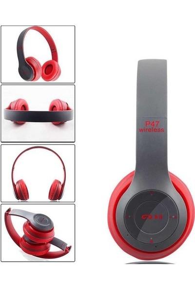 Blue Inter P47 Bluetooth Kulaklık 5.0 - Kırmızı