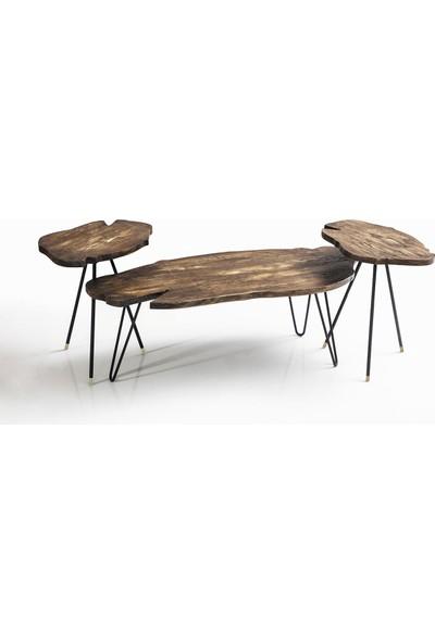 Wood Orta ve Yan Sehpa Seti