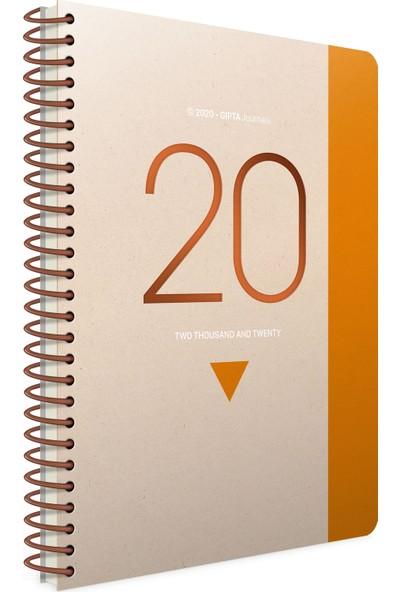 Gıpta 409-Fwk Gıpta 2020 Flow Spiralli Günlük Ajanda 17X24