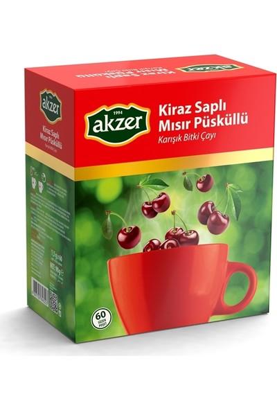 Akzer Kiraz Saplı Mısır Püsküllü Bitkisel Çay