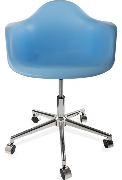 Dorcia Home Kolçaklı Ofis Sandalyesi Çalışma Koltuğu Ofis Koltuğu Mavi