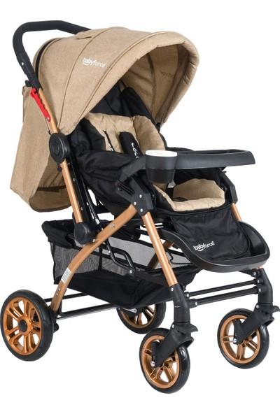 Baby Force Secret Gold Çift Yönlü Bebek Arabası Kahverengi