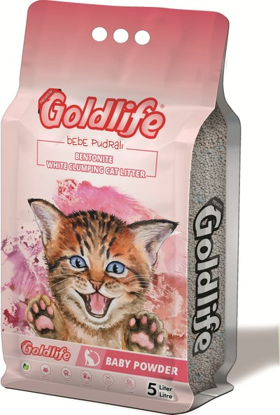 Gold Life Premium Bebe Pudralı Kedi Kumu 5 l