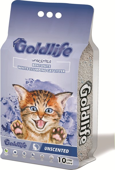Gold Life Premium Kokusuz Kedi Kumu 10 l