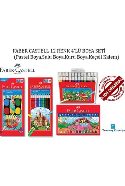 Faber-Castell 4'lü Boya Seti 12'li Pastel - Sulu - Kuru Boya - Keçeli Kalem