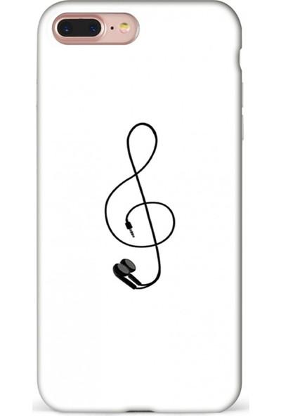 Mefeshop Samsung Galaxy A8 2018 Nota Baskılı Baskılı Telefon Kılıfı Beyaz