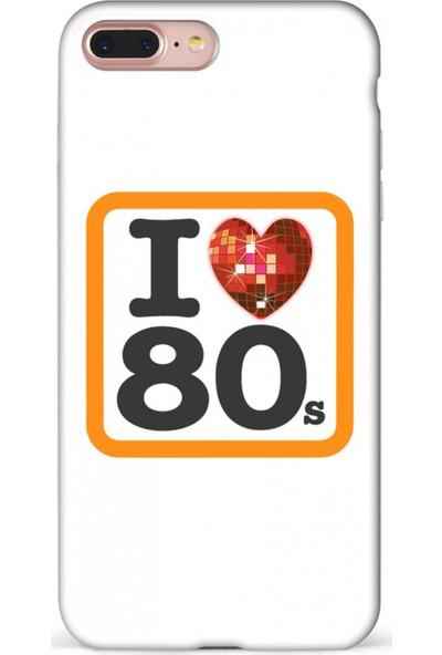 Mefeshop Samsung Galaxy C9 80'ler Love Baskılı Baskılı Telefon Kılıfı Beyaz