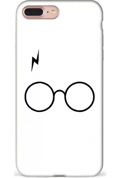 Mefeshop Samsung Galaxy Note 9 Gözlük Desenli Baskılı Telefon Kılıfı Beyaz