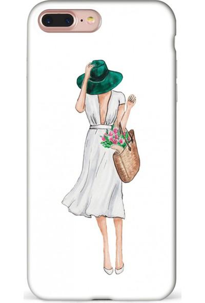 Mefeshop Samsung Galaxy Note 9 Kadın Figürlü Baskılı Telefon Kılıfı Beyaz