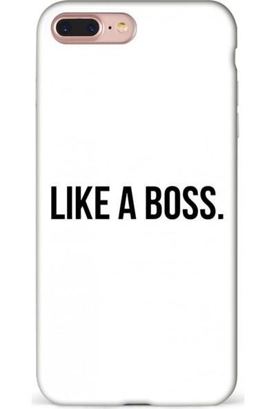 Mefeshop Samsung Galaxy S6 Edge Like A Boss Baskılı Baskılı Telefon Kılıfı Beyaz