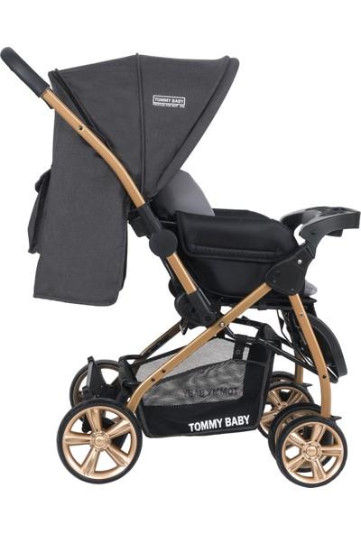 Tommybaby TB-700 Gold Çift Yön Lüx Bebek Arabası Puset