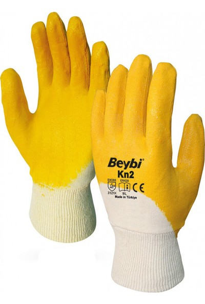 Beybi Kn2 12 Çift Sarı Nitril İş Eldiveni
