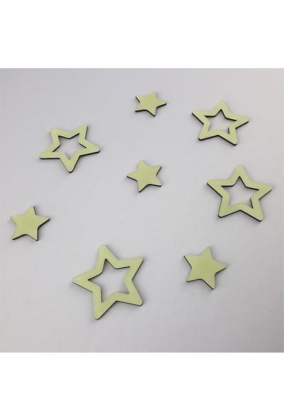Faami Style Fosforlu Yıldızlar 8 Adet ( Karanlıkta Parlaması Garantili ) Fosforlu Duvar Süsü
