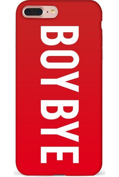 Mefeshop Samsung Galaxy S10e Boy Bye Baskılı Baskılı Telefon Kılıfı Kırmızı