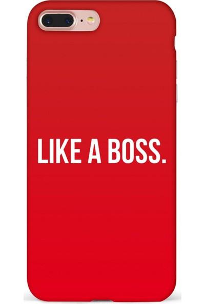 Mefeshop Samsung Galaxy S8 Like A Boss Baskılı Baskılı Telefon Kılıfı Kırmızı