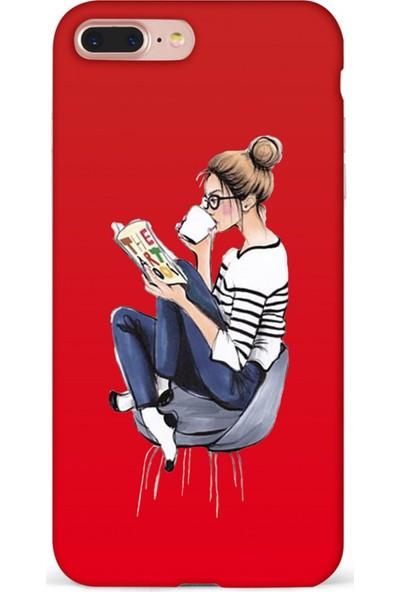 Mefeshop Huawei Mate 10 Pro Kadın Figürlü Baskılı Telefon Kılıfı Kırmızı