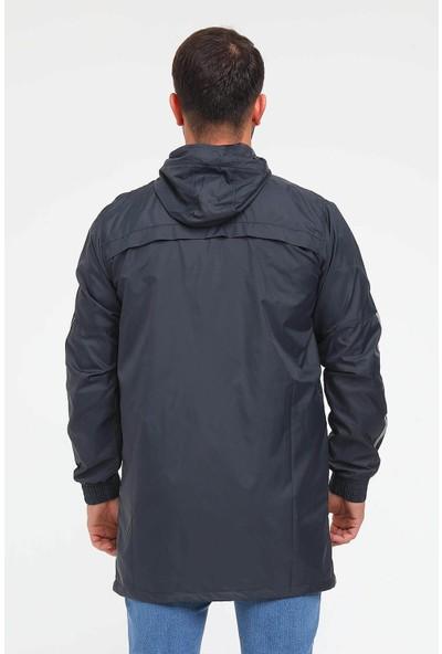 Haşema Cep Detaylı Gri Erkek Yağmurluk