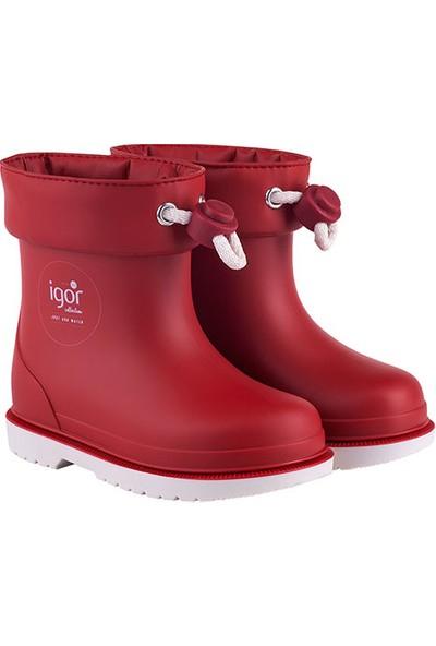 Kiko Kids W10225 Bimbi Nautico Çocuk Su Geçirmez Kırmızı Yağmur Çizmesi