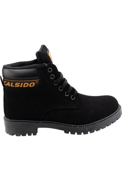 Ayakland Calsido 506 Termal Astarlı Termo Erkek Çocuk Bot Siyah