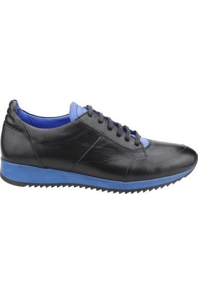 Epaş 10460 M Günlük Deri Günlük Erkek Spor Ayakkabı Siyah Mavi