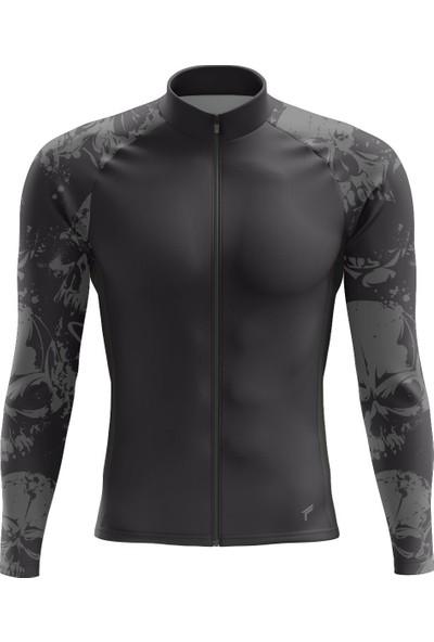 Freysport Iskelet-01 Bisiklet Forması Uzun Kol Siyah