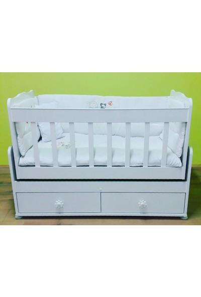 Alyans Bebek Mobilyaları Alttan 2 Çekmeceli, Sallanan ve Sabitlenen Beşik