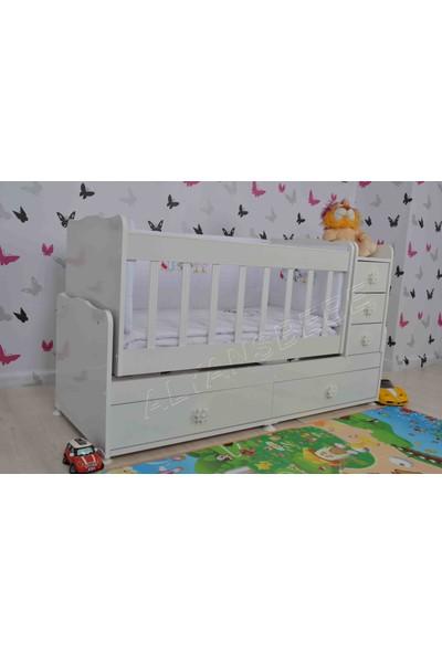 Alyans Bebek Mobilyaları Büyüyen 5 Çekmeceli Beşik