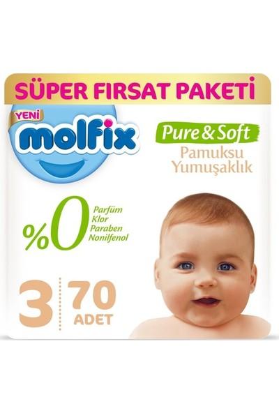 Molfix Pure&soft 3 Numara 70 Adet