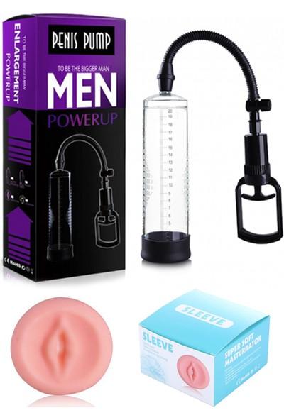 Penis Pompa Seti - Penis Pompası + Vajina Başlık