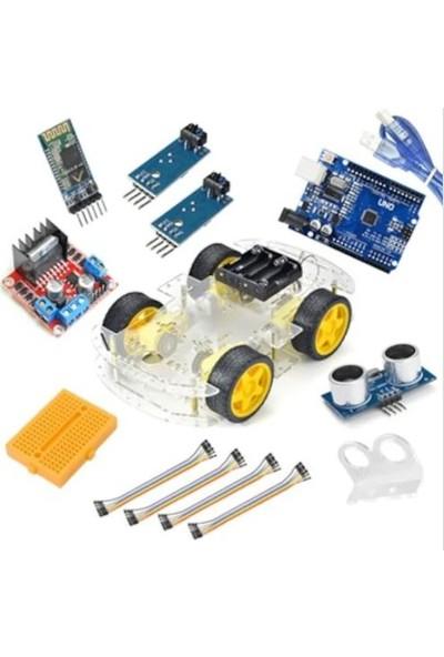 Robot Diyarı Arduino Bluetooth Robot Araba Kiti - 4WD