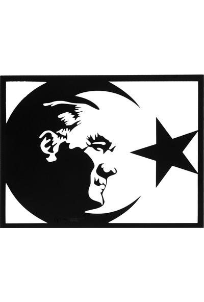 Yücecengiz Metal Metal Tablo Atatürk Bayraklı