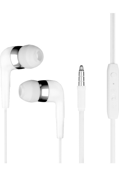 Dexim Mikrofonlu Kulakiçi Kulaklık Beyaz