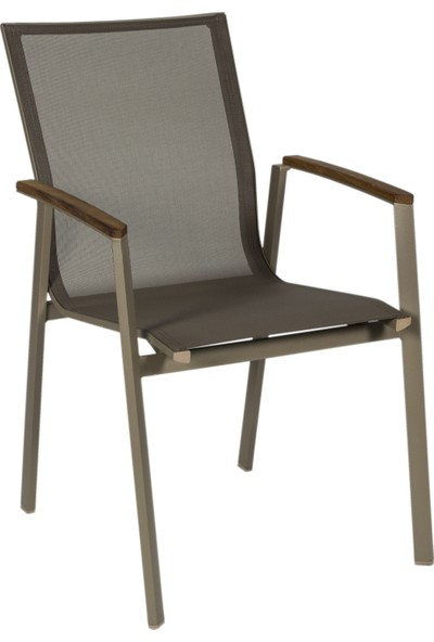 Mesh Fileli Alüminyum Textilen Sandalye 4 Kişilik