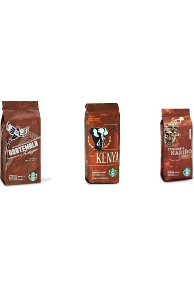 Guatemala - Kenya - Colombia 3lü Filtre Kahve Paketi 250X3 750GR Kahve Makinası Için Çekilmiş Çok Al Az Öde