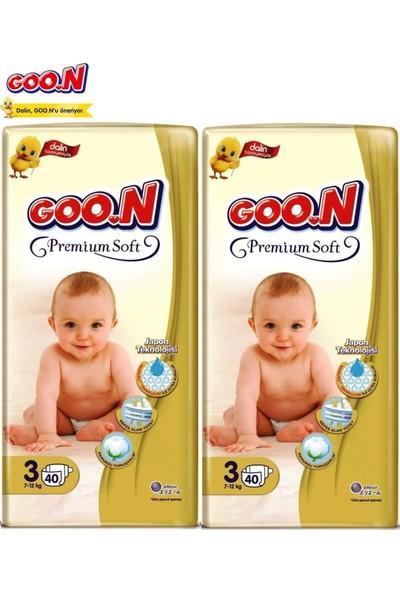Goon Premium Soft Jumbo Paket 2'li Set 3 Beden 80 Adet